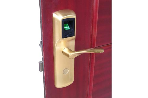 LA502 Biometric Fingerprint Scanner Door Locks With Mechanical Keys
