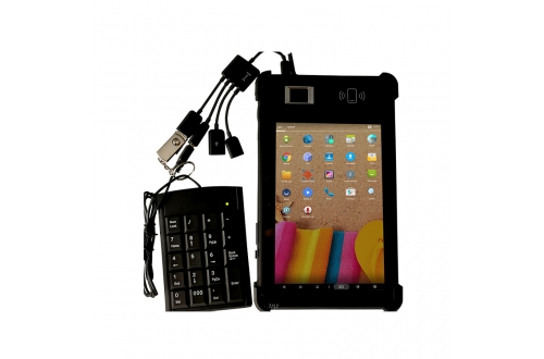 FP08 Rugged Android Windows IP67 NFC Fingerprint Tablet For Telcom Sim Registration
