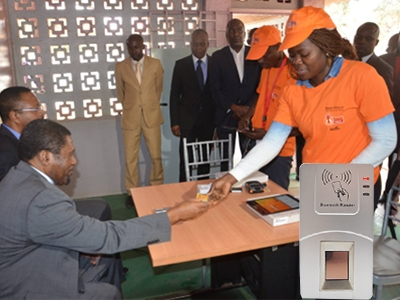 Fingerprint Reader for President Election of Angola