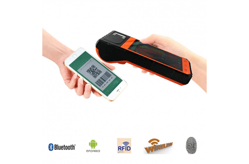 FP09 Warehouse Barcode Scanner Biometric Android POS Printer Fingerprint Wireless Charging  Tablet